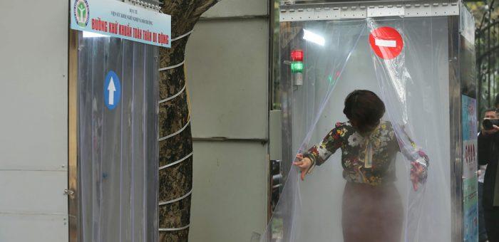 Bạt Nhựa PVC Làm Buồng Khử Khuẩn Chống Virus Corona