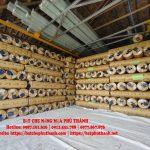 Bảng báo giá bạt che nắng mưa, bạt nhựa PVC, bạt che công trình tại Lai Châu